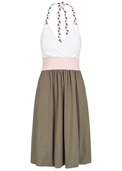 bae3f90cf57e86 Hailys Damen Tie Belt Shorts Contrasting Glitter Stripes 2-Pockets ...