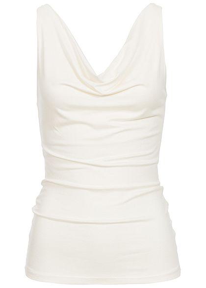 011a2bd2e5738b Styleboom Fashion Damen Tank Top Pailletten weiss - 77onlineshop