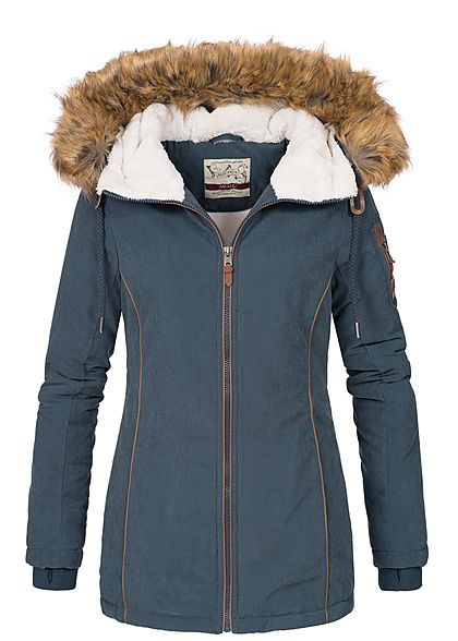 Navy Blau By Winter Eight2nine Abnehmbares Surface Jacke Urban Kunstfell Damen kwOPn08