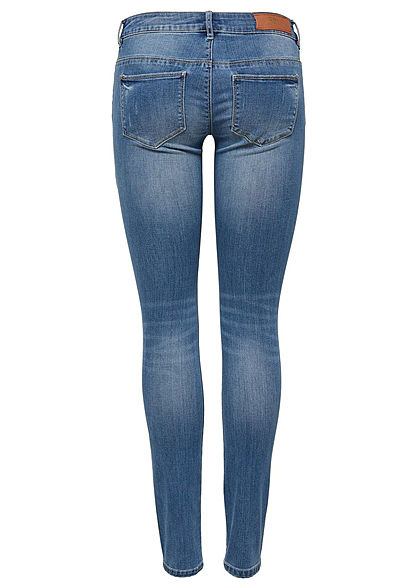 ONLY Damen Skinny Jeans Hose 5-Pockets Crash Optik NOOS medium blau denim.  denim navy beb510623f