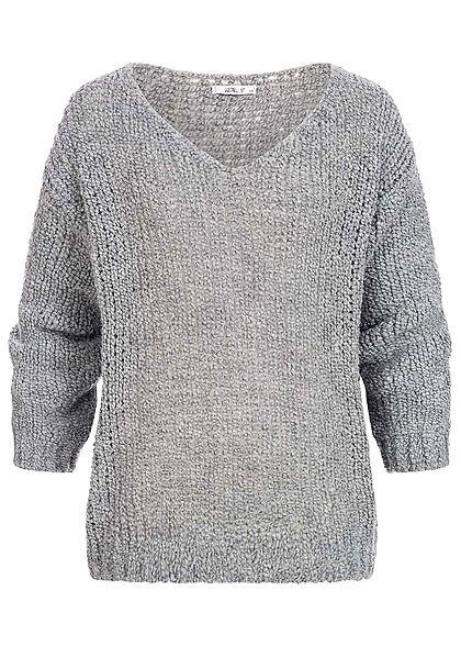 online store 94c1d 30974 Hailys Damen Strickpullover Oversized grau