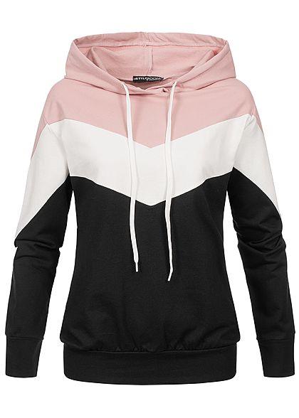 109948164369be Styleboom Fashion Damen Arrow Colorblock Hoodie ...