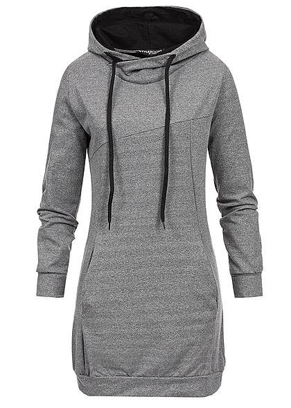 2e8b66c27f Styleboom Fashion Damen Longform Basic Hoodie ...