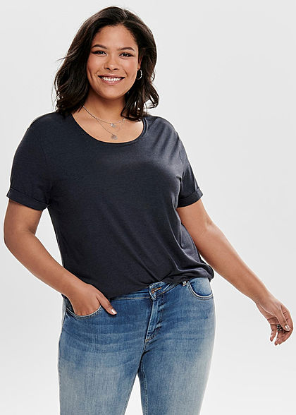 ONLY Carmakoma Damen Curvy T-Shirt night sky navy blau - Art.-Nr.: 19031164