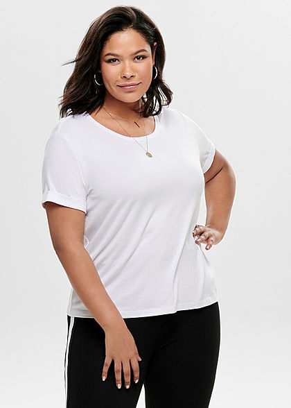 ONLY Carmakoma Damen Curvy T-Shirt weiss - Art.-Nr.: 19031165