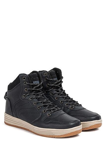 Urban Classics Men Shoe High Top Winter Sneaker black