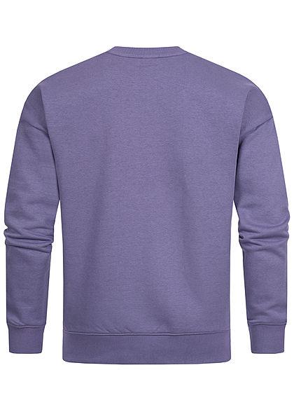 Stitch & Soul Herren Colorblock Sweater viola lila mint grün weiss