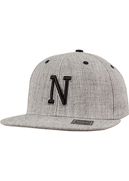 Flexfit TB Snapback Buchstaben Patch N heather grau