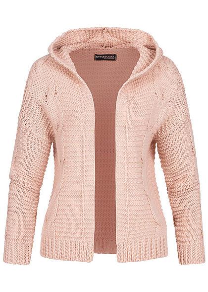 Styleboom Fashion Damen Colorblock Hoodie Kleid Kapuze