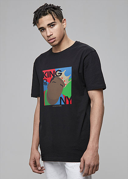 CAYLER & SONS TB Herren T-Shirt King of NY Print schwarz multicolor - Art.-Nr.: 20010201