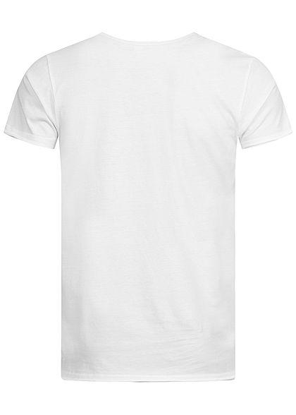 Sublevel Herren T-Shirt NY City Print weiss