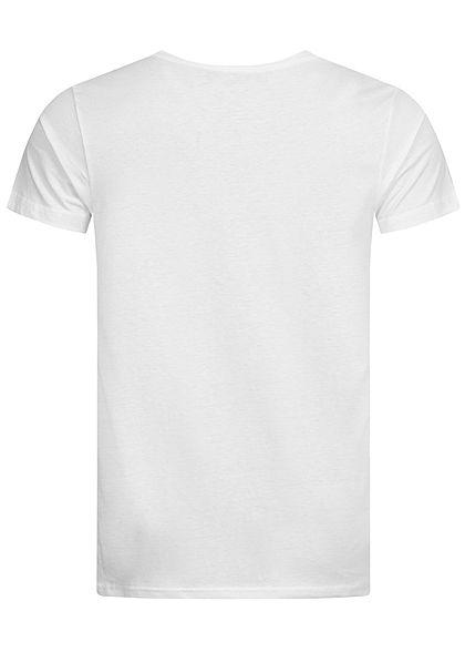 Sublevel Herren T-Shirt Tropical Beach Print weiss