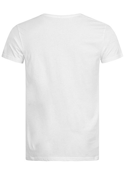 Sublevel Herren T-Shirt L.A. Sunset BLVD Print weiss