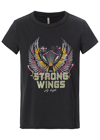 ONLY Kids Mädchen T-Shirt Strong Wings Print schwarz mc - Art.-Nr.: 20030857