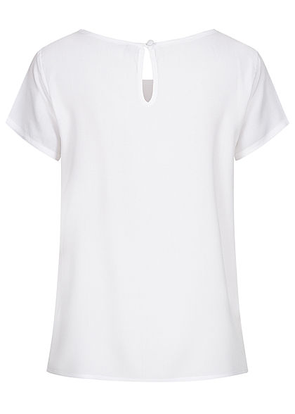 Sublevel Damen Blusen Shirt lockerer Schnitt weiss