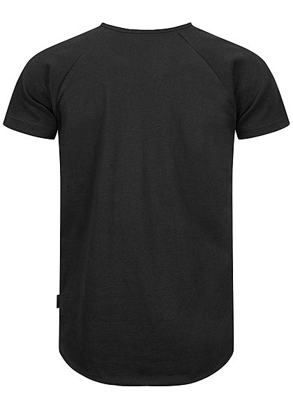 Sublevel Herren Unicolor Raglan T-Shirt schwarz