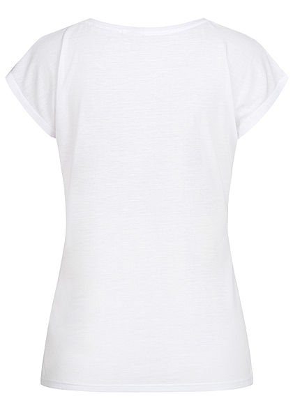 Seventyseven Lifestyle Women T-Shirt Love Mickey white copper