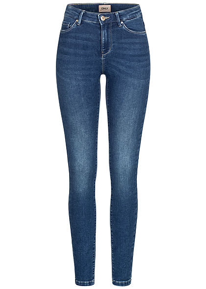 ONLY Damen Skinny Jeans Hose 5-Pockets dunkel blau denim - Art.-Nr.: 21010032