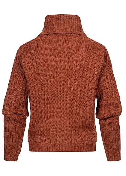 Rock Angel Women Oversized Knitted Sweater reddish brown