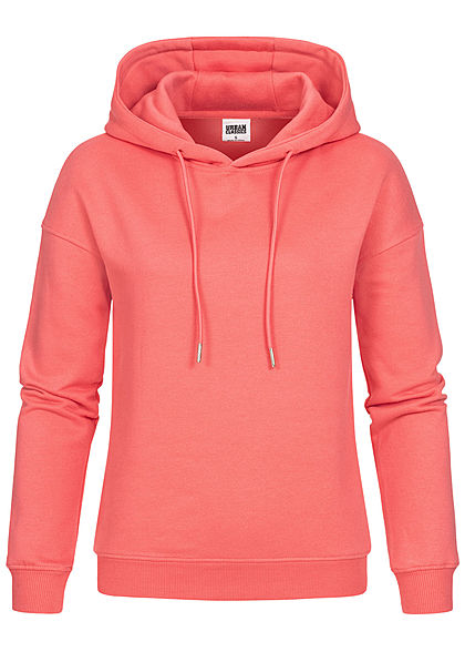 Urban Classics Women Basic Hoodie pale peach pink - Art.-Nr.: 21010226