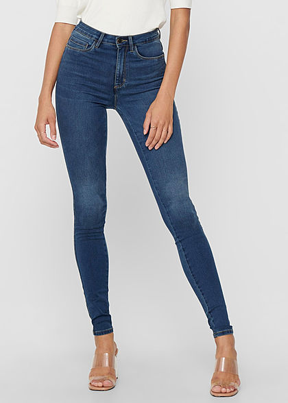 ONLY Women NOOS Skinny Jeans Pants High-Waist dark blue denim - Art.-Nr.: 21010249