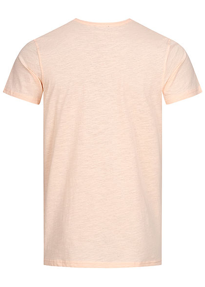 Stitch & Soul Men T-Shirt Print peach orange