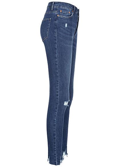 TALLY WEiJL Women High-Waist Skinny Jeans Destroy Look denim blue