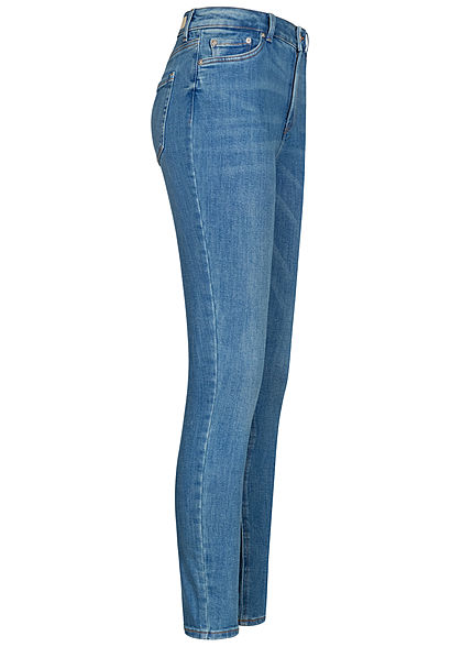 Tom Tailor Women Skinny Jeans Pants 5-Pockets dark stone wash denim blue