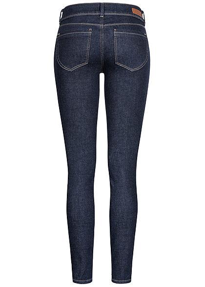 Tom Tailor Women Skinny Jeans Pants 5-Pockets dark stone wash denim blue