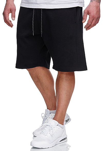 Sublevel Herren Sweatpants Shorts 4-Pockets Tunnelzug schwarz - Art.-Nr.: 21031063