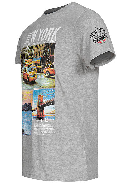 Homme Brave Soul Gris New York Tee XS S M