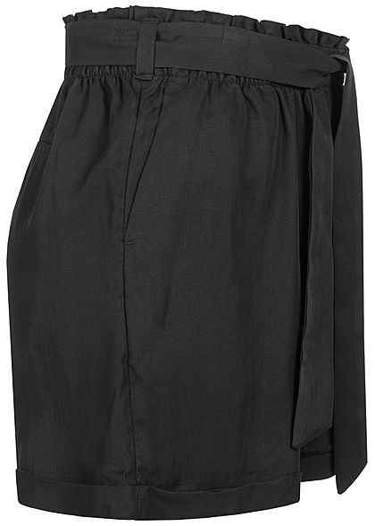 Tom Tailor Women Paperbag Shorts 2-Pockets deep black