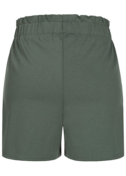 Tom Tailor Women High-Waist Shorts dusty pine green