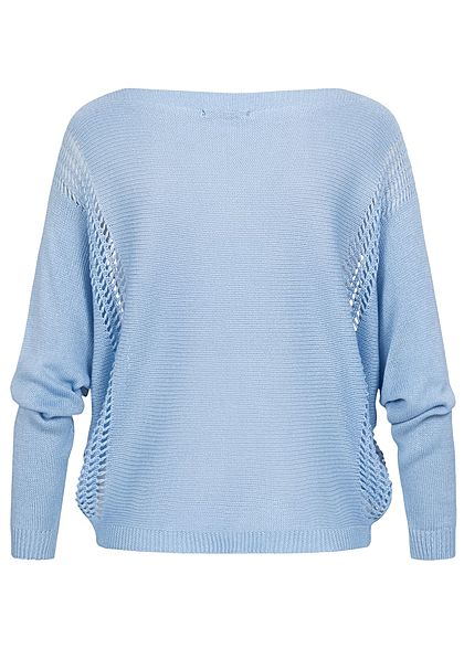 Hailys Dames Knitted Sweater light blue