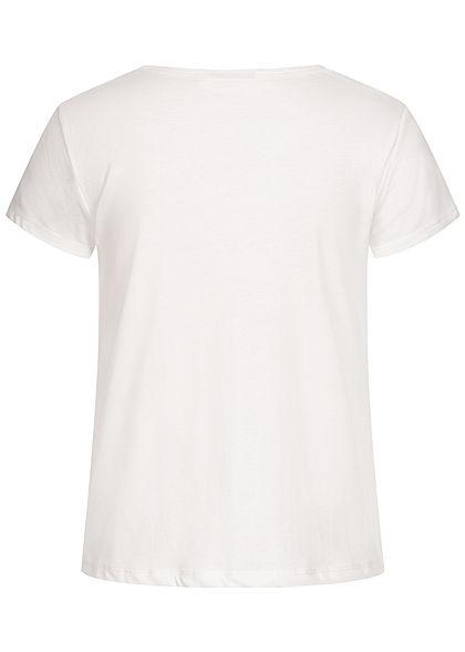 Eight2Nine Women T-Shirt Melon Print off white