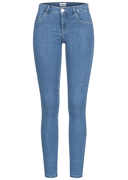 ONLY Women Skinny Jeans Regular Waist 5-Pockets light blue denim - Art.-Nr.: 21031382