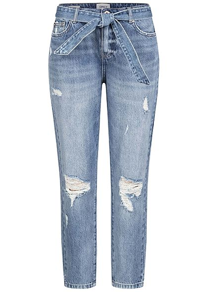ONLY Women Ankle Boyfriend Destroy Jeans Look medium blue denim - Art.-Nr.: 21031422