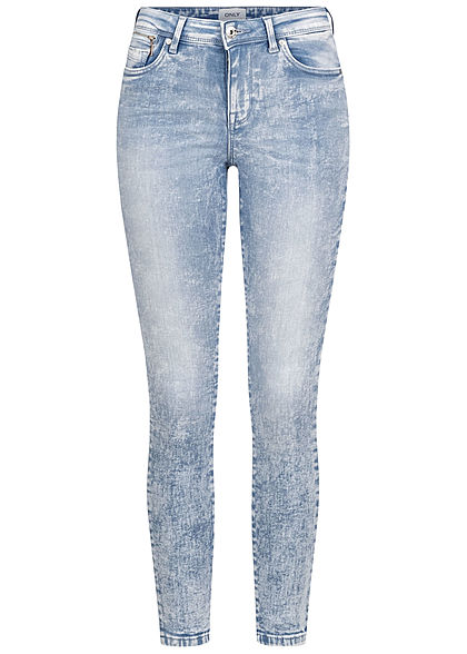 ONLY Women Ankle Skinny Jeans Regular Waist light blue denim - Art.-Nr.: 21031423