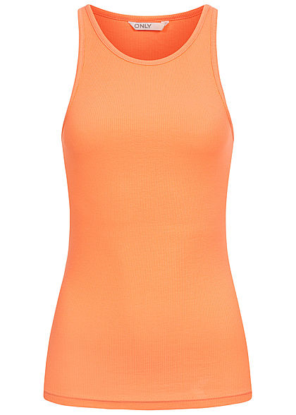 ONLY Women NOOS Ribbed Tank Top cantaloupe orange - Art.-Nr.: 21031446