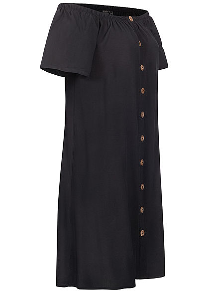 Eight2Nine Women Off-Shoulder Mini Dress black