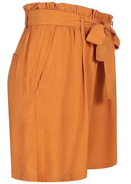 Eight2Nine Damen Paperbag Shorts inkl. Bindegürtel 2-Pockets amber orange