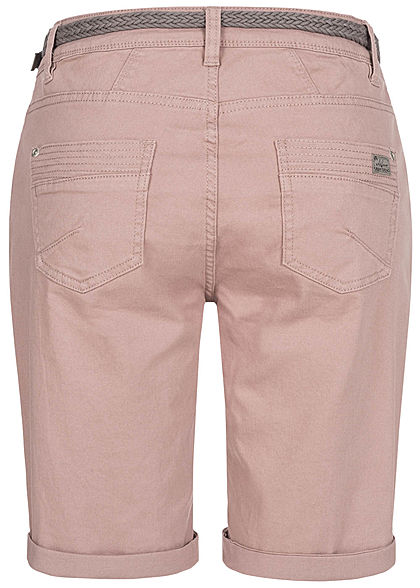 Urban Surface Women Casual Fit Bermuda Jeans Shorts pale mauve rose