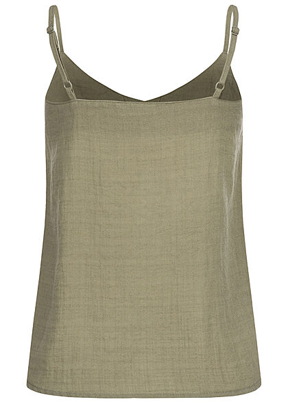 Eight2Nine Women V-Neck Top washed olive green
