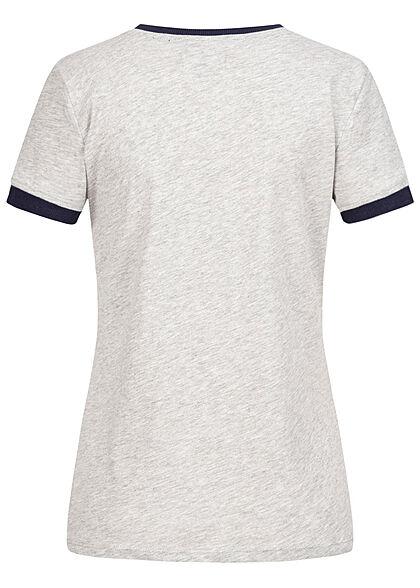 Brave Soul Women 2-Tone T-Shirt Kindness Peace Print grey